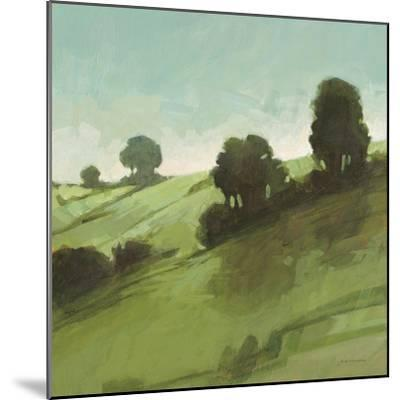 Knoll View 3 Square-DB Edwards-Mounted Art Print