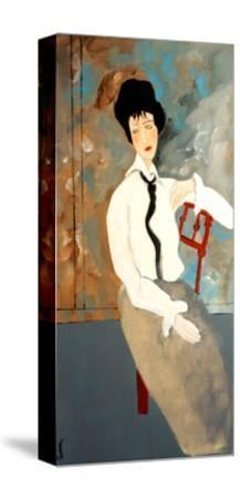 Modigliani Woman with White Blouse, 2016-Susan Adams-Stretched Canvas Print