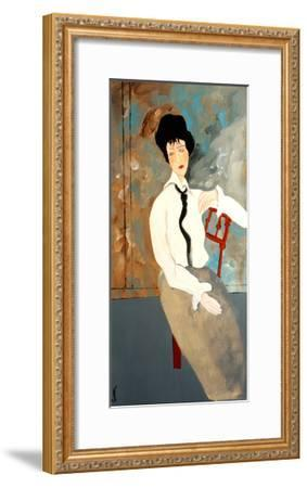 Modigliani Woman with White Blouse, 2016-Susan Adams-Framed Giclee Print
