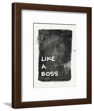 Like a Boss-Linda Woods-Framed Art Print