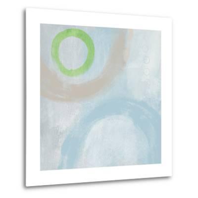 Soft Coastal Circles III-Linda Woods-Metal Print