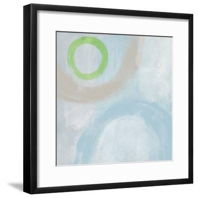Soft Coastal Circles III-Linda Woods-Framed Art Print