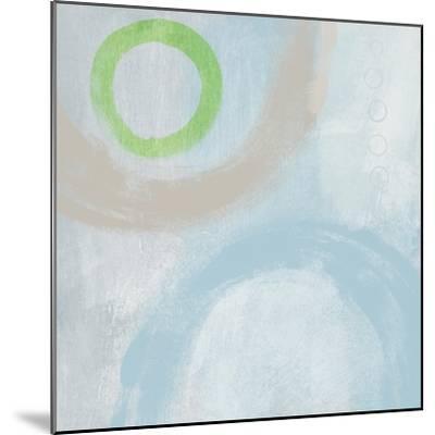 Soft Coastal Circles III-Linda Woods-Mounted Art Print
