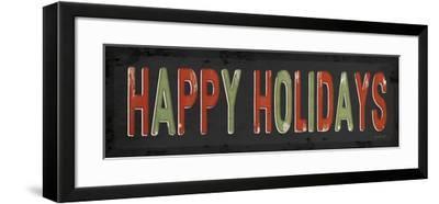 Happy Holidays Christmas-Jennifer Pugh-Framed Art Print