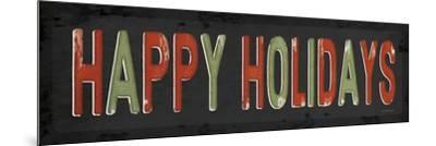 Happy Holidays Christmas-Jennifer Pugh-Mounted Art Print