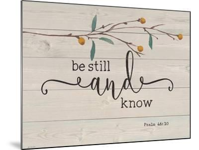 Be Still and Know-Jo Moulton-Mounted Art Print
