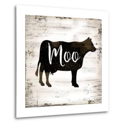 Farmhouse Cow-Jennifer Pugh-Metal Print