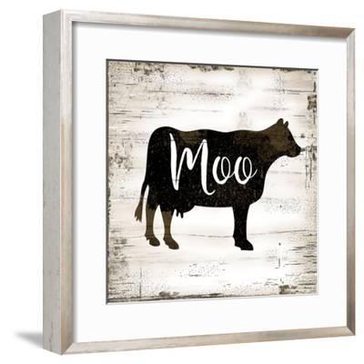 Farmhouse Cow-Jennifer Pugh-Framed Art Print