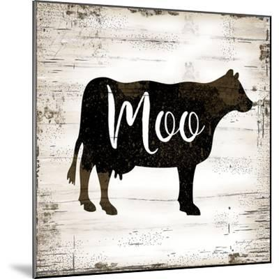 Farmhouse Cow-Jennifer Pugh-Mounted Art Print