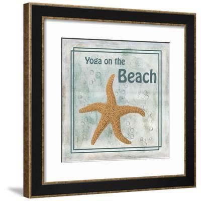 Yoga on the Beach-Ramona Murdock-Framed Art Print