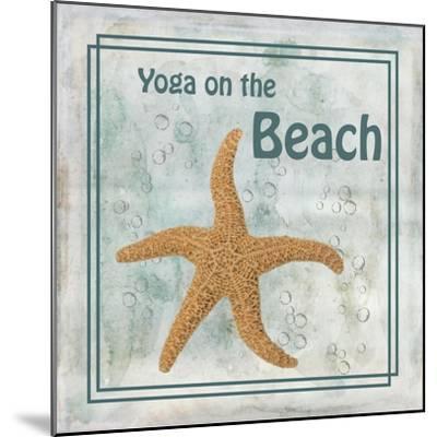 Yoga on the Beach-Ramona Murdock-Mounted Art Print