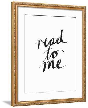 Read to Me BW-Linda Woods-Framed Art Print