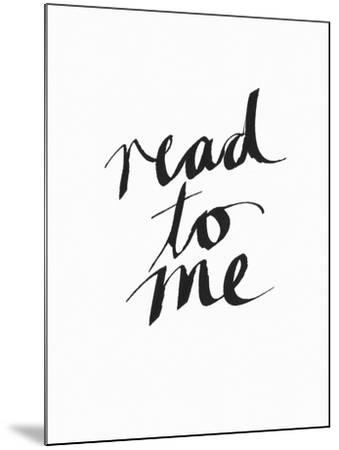 Read to Me BW-Linda Woods-Mounted Art Print