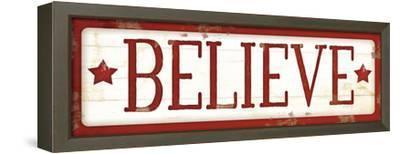 Believe Christmas-Jennifer Pugh-Framed Stretched Canvas Print