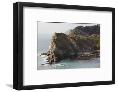 Cliffs at Lulworth Cove, in the Jurassic Coast World Heritage Site, Dorset, Great Britain-Nigel Hicks-Framed Photographic Print