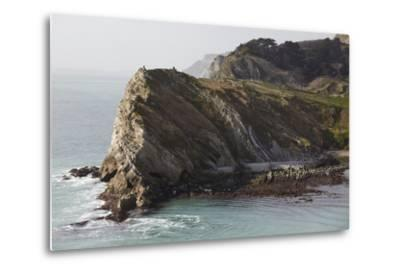 Cliffs at Lulworth Cove, in the Jurassic Coast World Heritage Site, Dorset, Great Britain-Nigel Hicks-Metal Print