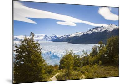 A View Looking Through the Trees of the Top of the Perito Moreno Glacier in Argentina-Mike Theiss-Mounted Photographic Print
