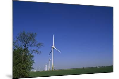 A Row of Windmills in a Field-Norbert Rosing-Mounted Photographic Print