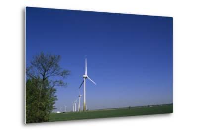 A Row of Windmills in a Field-Norbert Rosing-Metal Print