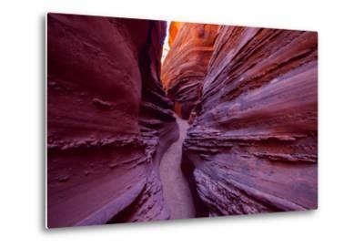 A Narrow, Winding Passage in Spooky Slot Canyon-Ben Horton-Metal Print