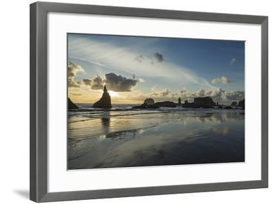 Seascape with Pinnacles at Bandon Beach in Bandon, Oregon-Macduff Everton-Framed Photographic Print