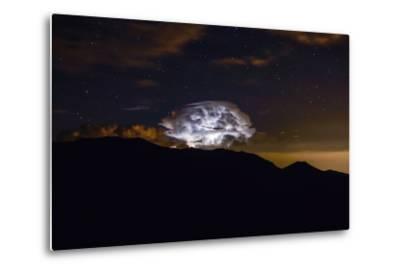 Storm Cloud over the Mummy Range in Rocky Mountain National Park, Colorado-Keith Ladzinski-Metal Print