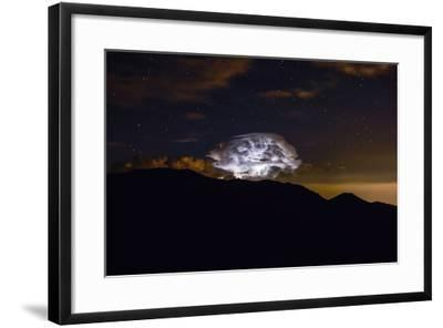 Storm Cloud over the Mummy Range in Rocky Mountain National Park, Colorado-Keith Ladzinski-Framed Photographic Print
