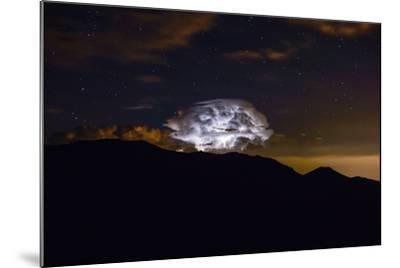 Storm Cloud over the Mummy Range in Rocky Mountain National Park, Colorado-Keith Ladzinski-Mounted Photographic Print