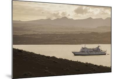 A Passenger Expedition Ship Cruises the Galapagos Islands-Jad Davenport-Mounted Photographic Print