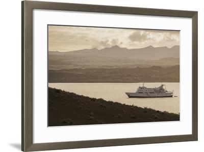A Passenger Expedition Ship Cruises the Galapagos Islands-Jad Davenport-Framed Photographic Print