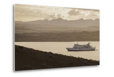 A Passenger Expedition Ship Cruises the Galapagos Islands-Jad Davenport-Metal Print