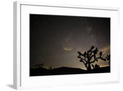 The Star-Filled Night Sky over Lost Horse Valley in Joshua Tree National Park-Kent Kobersteen-Framed Photographic Print