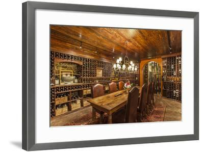 The Wine Cellar in the Antrim 1844, a Restored Plantation House in Maryland-Richard Nowitz-Framed Photographic Print