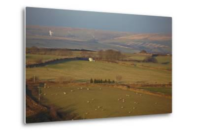 The Hills of Challacombe Common in Early Winter, Near Blackmoor Gate, Exmoor National Park-Nigel Hicks-Metal Print