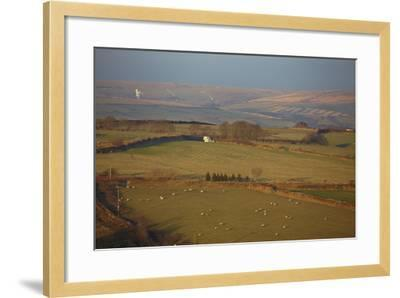 The Hills of Challacombe Common in Early Winter, Near Blackmoor Gate, Exmoor National Park-Nigel Hicks-Framed Photographic Print