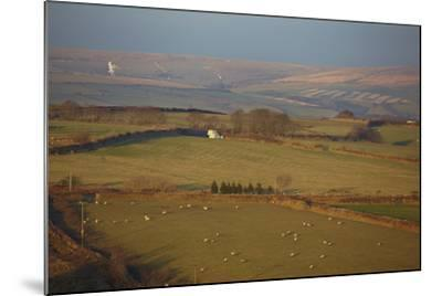 The Hills of Challacombe Common in Early Winter, Near Blackmoor Gate, Exmoor National Park-Nigel Hicks-Mounted Photographic Print