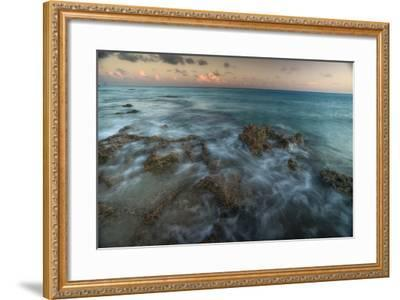 An Ocean View Off the Coast of Cat Island in the Bahamas at Sunset-Andy Mann-Framed Photographic Print