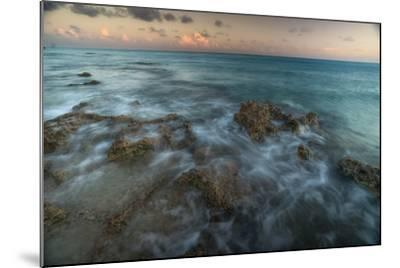 An Ocean View Off the Coast of Cat Island in the Bahamas at Sunset-Andy Mann-Mounted Photographic Print