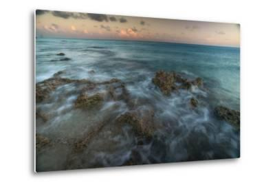 An Ocean View Off the Coast of Cat Island in the Bahamas at Sunset-Andy Mann-Metal Print