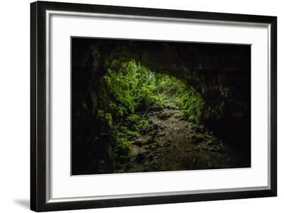 Collapsed Lava Tube in the Highlands of Santa Cruz Island-Jad Davenport-Framed Photographic Print