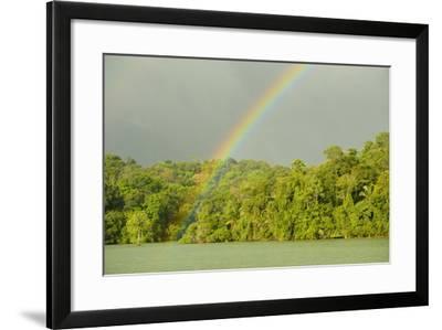 A Rainbow over Barro Colorado Island, Panama-Jonathan Kingston-Framed Photographic Print