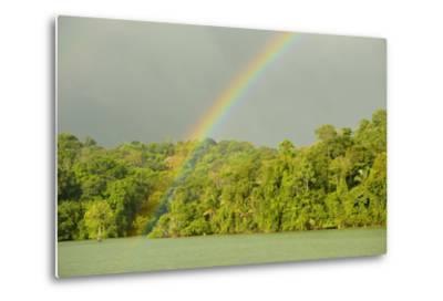 A Rainbow over Barro Colorado Island, Panama-Jonathan Kingston-Metal Print