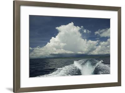 Rain Clouds over the Village of Labilabi on Halmahera Island-Timothy Laman-Framed Photographic Print