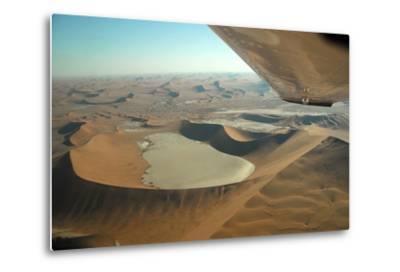 Aerial View of Sand Dunes of Namibia-Anne Keiser-Metal Print
