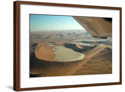 Aerial View of Sand Dunes of Namibia-Anne Keiser-Framed Photographic Print