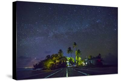 Carrie Bow Caye and its Remote Island Field Station Managed by the Smithsonian Instituion-Clare Fieseler-Stretched Canvas Print