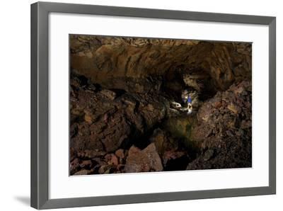 Spelunking the Longest Lava Tube in North America-Chad Copeland-Framed Photographic Print