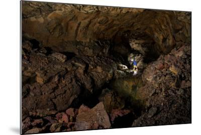 Spelunking the Longest Lava Tube in North America-Chad Copeland-Mounted Photographic Print