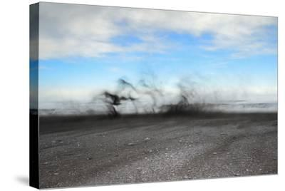 Black Sand Blows in High Winds on Basalt Beach in South Iceland-Chad Copeland-Stretched Canvas Print