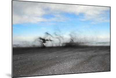 Black Sand Blows in High Winds on Basalt Beach in South Iceland-Chad Copeland-Mounted Photographic Print